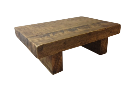 The 4ft X 2ft Chunky Rustic Coffee Table Ely Rustic Furniture