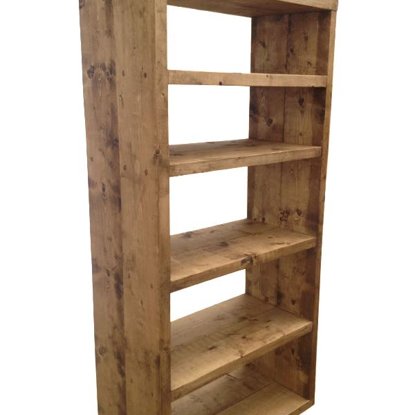 The Tall Rustic Bookcase Ely Rustic Furniture
