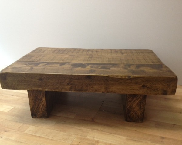 the 3ft x 2ft chunky rustic coffee table ely rustic