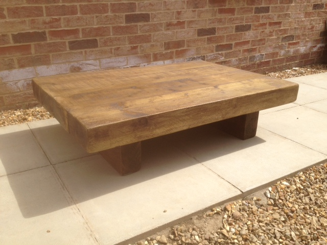 The 3ft X 2ft Chunky Rustic Coffee Table ⋆ Ely Rustic