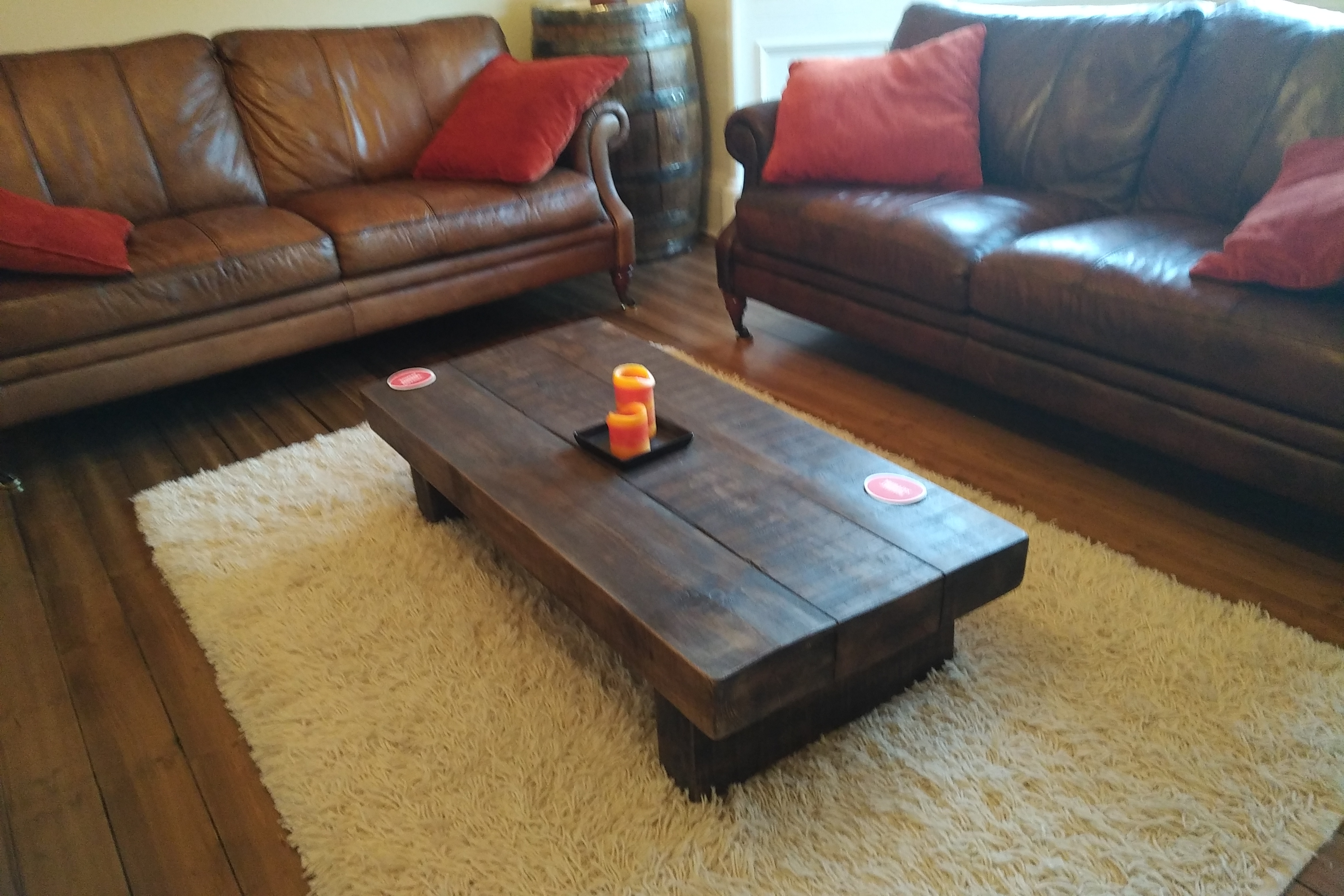 The 4ft X 3ft Rustic Chunky Coffee Table Ely Rustic Furniture