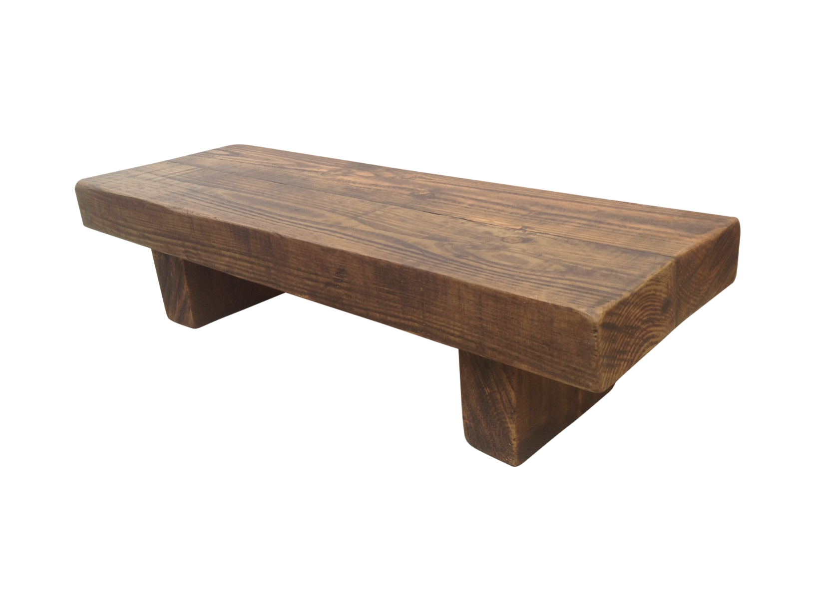 The rustic beam bench coffee table ely rustic furniture Bench coffee tables