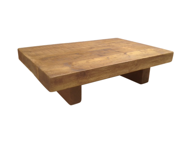 The johnson chunky coffee table ely rustic furniture for 5ft coffee tables