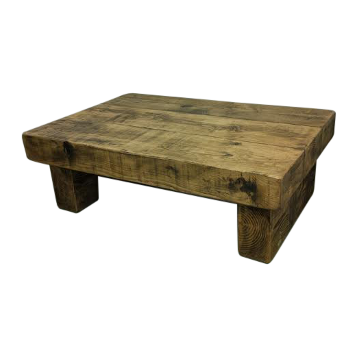 The 4ft X 3ft Rustic Chunky Coffee Table