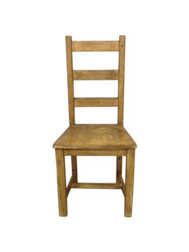 Rustic Reclaimed Wood Multicolor Dining Chairs Set Of 2  : rustic reclaimed dining chair front view from 50han.com size 376 x 502 png 74kB