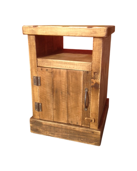 Rustic Wood Bedside Table: The Shaker Rustic Bedside ⋆ Ely Rustic Furniture