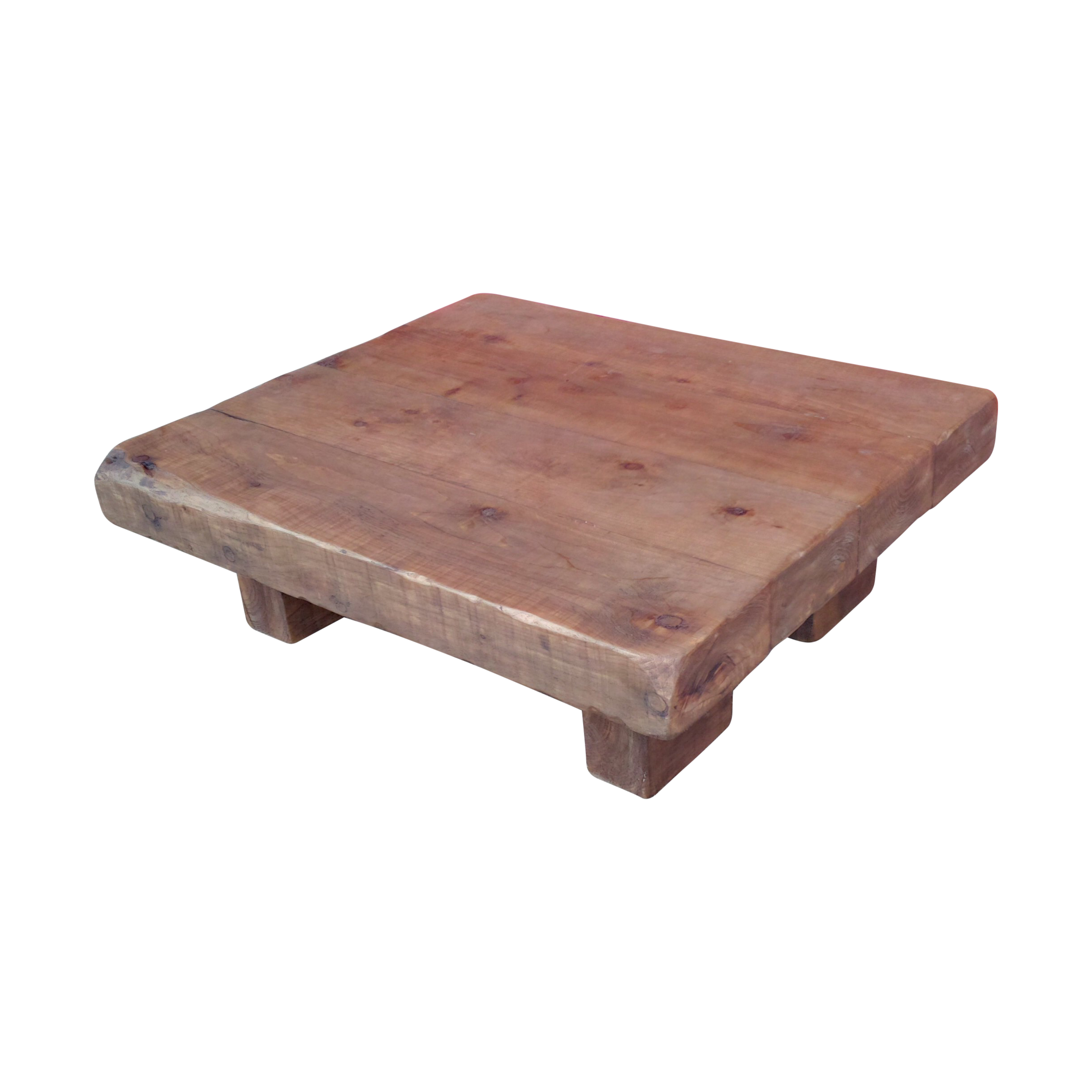 Chunky rustic coffee table 4 x 4 ely rustic furniture for X coffee tables